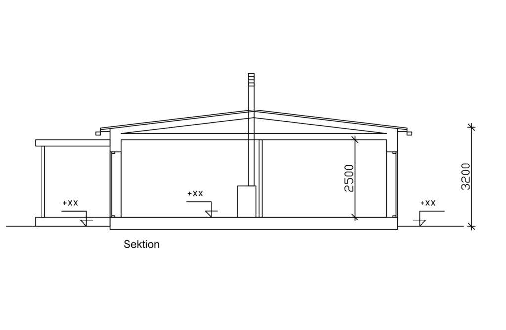 Sadeltak-Sektion